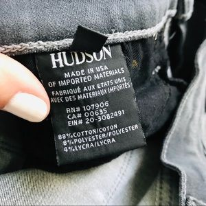Hudson Jeans Jeans - Hudson Nico midrise ankle distresses grey jeans